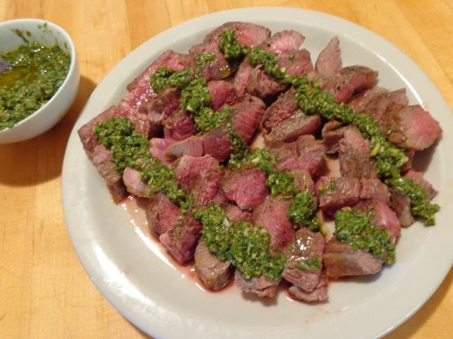 Lamb Steak with Mint Chimichurri