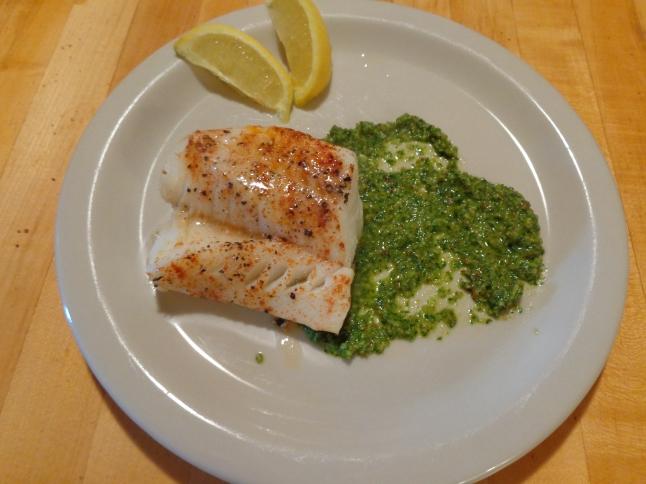 Cod with Dill Pesto
