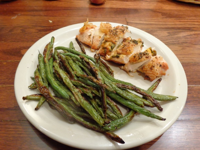 Orange Rosemary Chicken with Roasted Green Beans