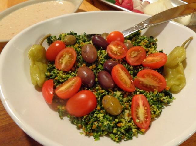 Kale slaw Italian style